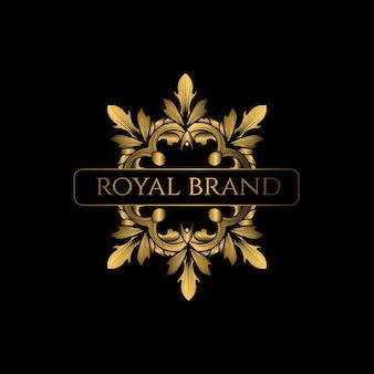 Logo di lusso con colore dorato