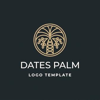 Logo di lusso date palm