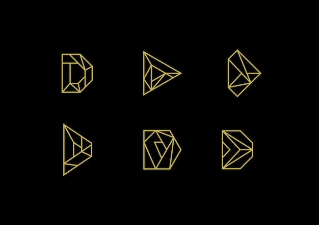 Logo di lusso elegante lettera d.