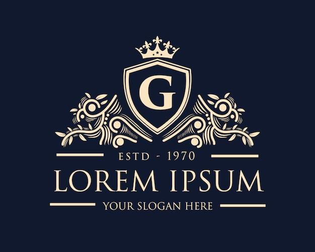 Logo di lusso ornamentale in stile reale
