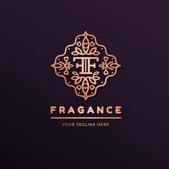 Logo di lusso profumo floreale
