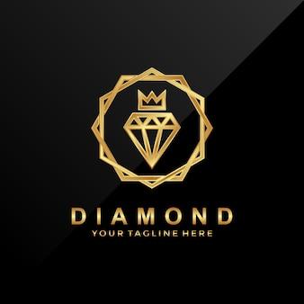 Logo di lusso royal diamond