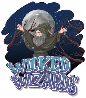 Logo di maghi malvagi su sfondo bianco