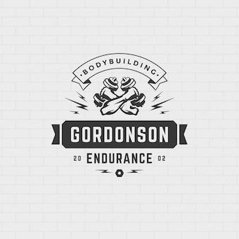 Logo di manubri bodybuilder
