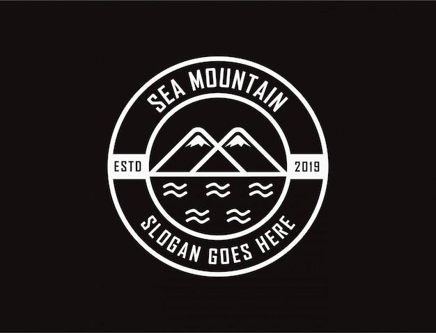 Logo di mare e montagna