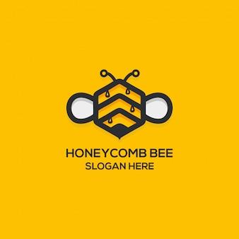 Logo di miele di miele