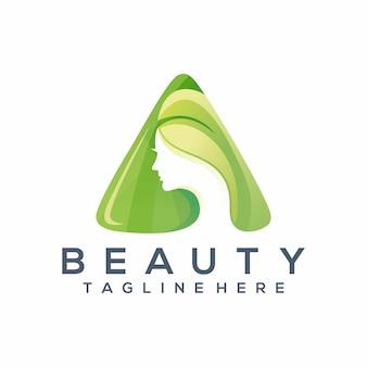 Logo di moda bellezza, modello,