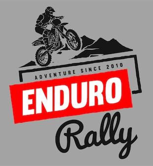 Logo di motocross racing