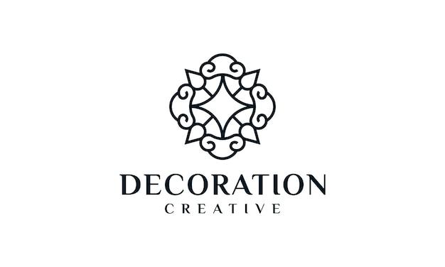 Logo di ornamento di lusso elegante contorno decorazione