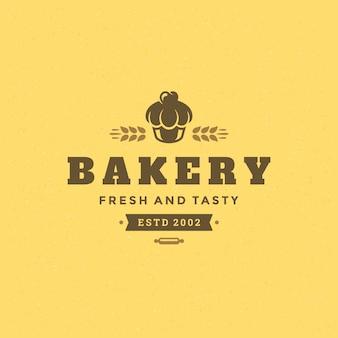 Logo di panetteria retrò