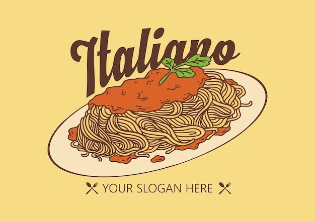 Logo di pasta spaghetti