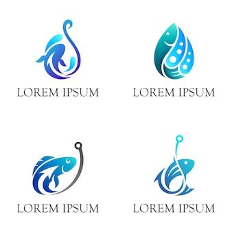 Logo di pesca semplice