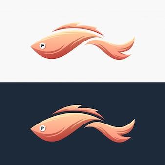 Logo di pesce colorato pronto all'uso