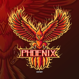Logo di phoenix mascotte esport