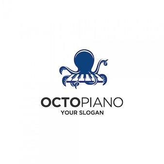 Logo di pianoforte polpo