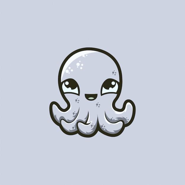 Logo di polpo bambino pronto all'uso