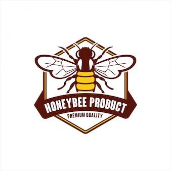 Logo di qualità premium del prodotto honeybee