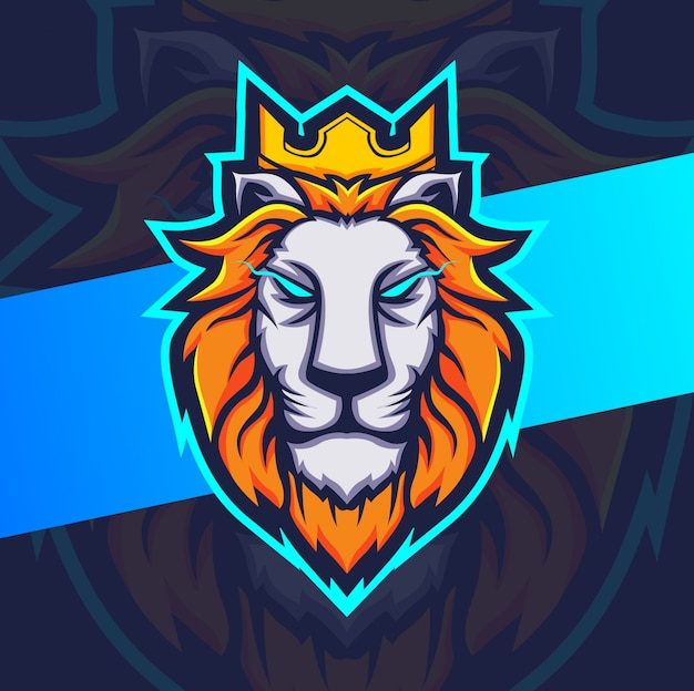 Logo di re leone mascotte esport