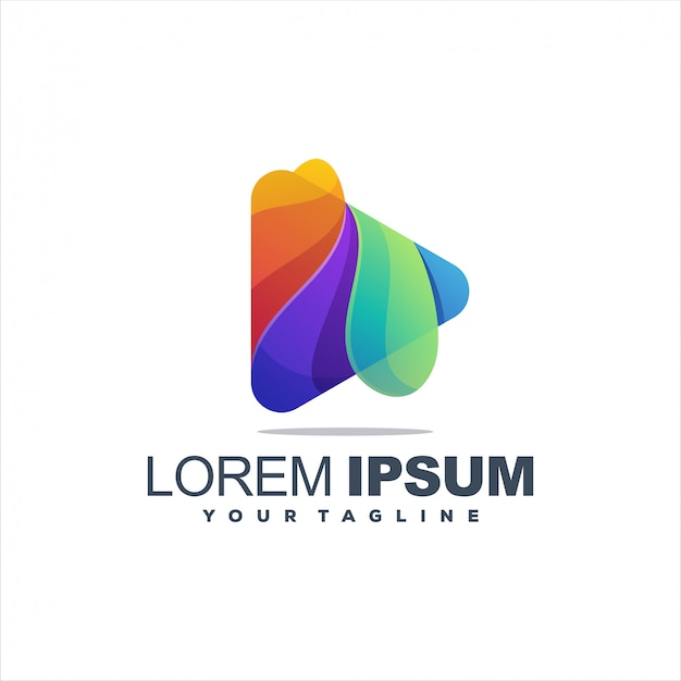 Logo di riproduzione multimediale eccezionale