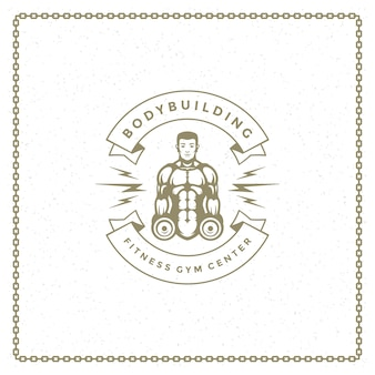 Logo di sagoma uomo culturista