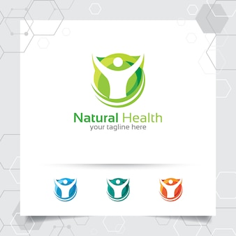 Logo di salute naturale