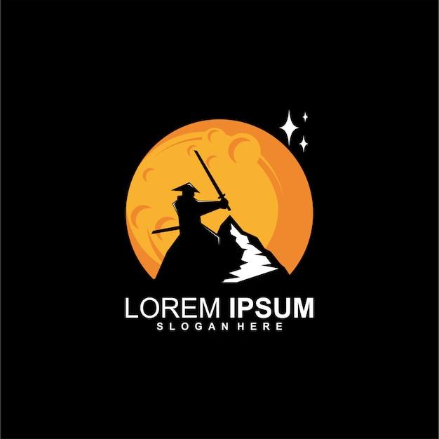 Logo di samurai di montagna
