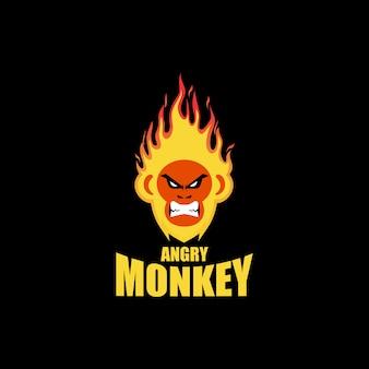 Logo di scimmia di fuoco