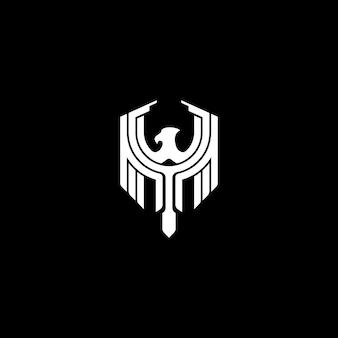 Logo di scudo monogram eagle