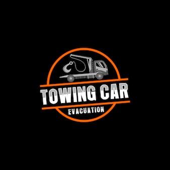 Logo di servizio di rimorchio dell'automobile