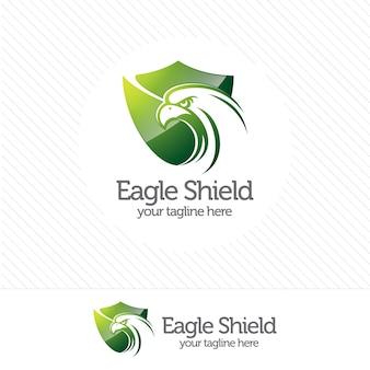 Logo di sicurezza scudo eagle