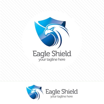 Logo di sicurezza scudo eagle