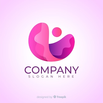 Logo di social media rosa sfumato