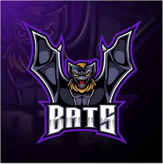 Logo di sport mascotte di pipistrello