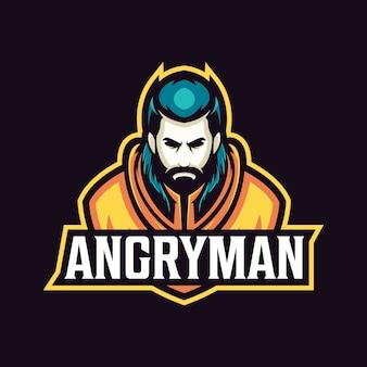 Logo di sport mascotte uomo arrabbiato