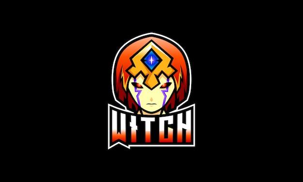 Logo di sport scuro strega