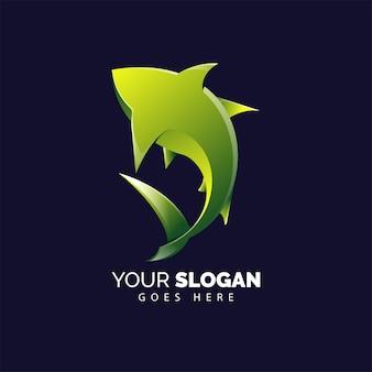 Logo di squalo forte e potente