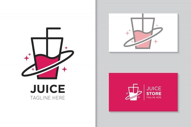 Logo di succo e illustrazione di icone