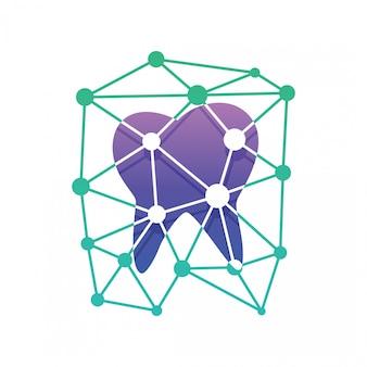 Logo di tecnologia dentale