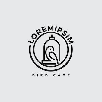 Logo di uccello con stile di linea art.