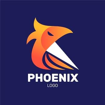 Logo di uccello fenice minimalista