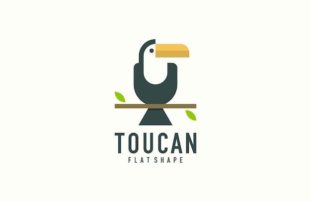Logo di uccello tucano