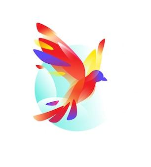 Logo di un uccello in volo