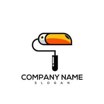 Logo di vernice tucano