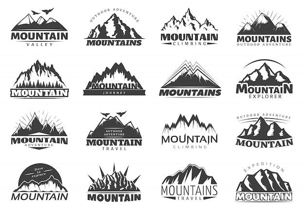 Logo di viaggio in montagna