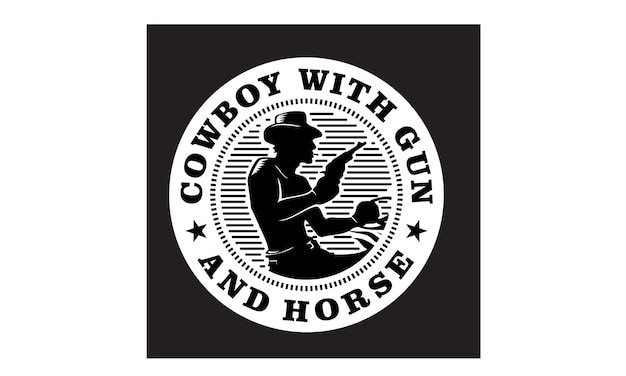 Logo di western cowboy emblem / timbro