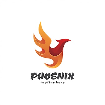 Logo di wing fire bird phoenix