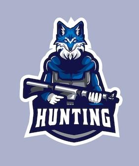 Logo di wolf hunting esports