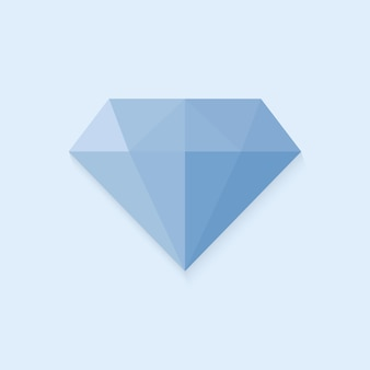 Logo diamante. segno diamante blu.
