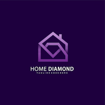 Logo diamond house