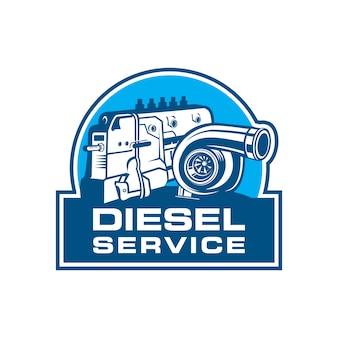 Logo diesel service, logo diesel solutions
